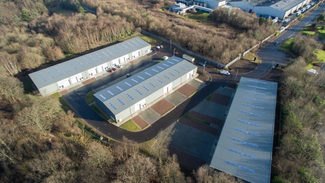 Aerial View of Western Campus, Strathclyde Business Park